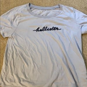 Baby blue hollister tee
